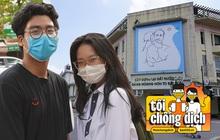 Giới trẻ Hà Nội đeo khẩu trang khi xuống phố, làm thủ tục dự thi hay đi cafe vẫn nghiêm chỉnh chấp hành