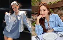 """Hôm trước vừa đi chơi thân thiết, nay Jennie - Jessica lại diện áo đôi: Jennie xinh muốn xỉu nhưng mix đồ """"sai quá sai"""""""