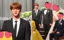 Đám cưới hot nhất hôm nay: Dàn idol toàn cầu BTS đổ bộ, Jin chiếm trọn spotlight khi làm phù rể cho anh trai ruột