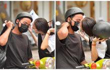 Cặp đôi hôn nhau cực ngọt qua lớp khẩu trang trước cổng trường thi THPT Quốc gia