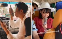 """Nhìn Hoàng Ku - Sun HT """"quẩy"""" tưng bừng trên xe ô tô mà tưởng đâu cảnh... đi du lịch với lớp cấp 3: Vui chơi bất chấp hình tượng luôn!"""