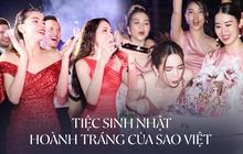 """Sao Việt mở tiệc sinh nhật xa hoa nhất Vbiz: Hà Hồ - Lý Nhã Kỳ như tổ chức lễ trao giải, Ngọc Trinh khiến dân tình """"xịt máu mũi"""""""