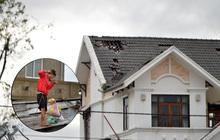 Ảnh hưởng của bão số 5: Huế mưa và gió lớn, nhiều nhà bị tốc mái ở ngoại thành
