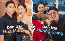 """Bạn trai Hương Giang """"đọ"""" bạn trai Hoà Minzy: 2 thiếu gia với tài sản khủng, siêu ngọt ngào với người yêu"""