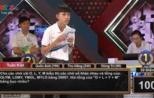 """Câu hỏi chung kết Olympia đánh gục 4 thí sinh nhưng đáp án siêu dễ: """"Cho tổng OLYM + LOMY + YMOL + MYLO = 29997, hỏi tổng O + L + Y + M bằng bao nhiêu?"""""""