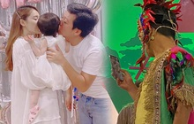 Trường Giang vô tư lôi điện thoại facetime với con gái và Nhã Phương giữa buổi quay hình