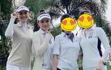"""Cú """"đụng độ"""" giữa Á hậu vs bạn gái thiếu gia ở sân golf, ai đẹp hơn hả các bạn?"""