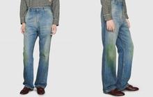 """Gucci khiến dân tình cười xỉu khi ra mắt quần jeans phong cách """"xòe xe trời mưa"""" giá 18 triệu"""