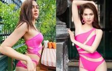 """Mỹ nhân 2 con đẹp nhất Thái Lan khoe đường cong đốt mắt với bikini táo bạo, liệu có """"át vía"""" Ngọc Trinh?"""