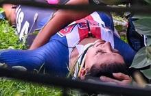 Cua rơ mất lái đâm vào rào chắn và rơi xuống đồi, fan xót xa khi chứng kiến vết thương của nữ VĐV trẻ