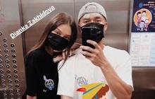 """Thủ môn Bùi Tiến Dũng và bạn gái khoe chiếc xe cá tính, chụp ảnh """"cool ngầu"""" trong thang máy chung cư"""