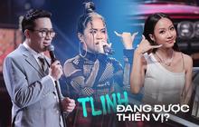 """Tlinh bị gắn mác """"con cưng"""" Rap Việt vì được thiên vị: Suboi chia cho line rap hay nhất, Trấn Thành mải khen quên luôn 2 thí sinh còn lại?"""