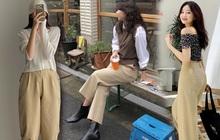"""Item sắm mùa thu diện quanh năm chính là quần màu be: Đẹp mọi nơi mọi lúc, mix với áo gì cũng """"ok lah"""""""