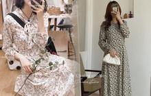 """Để mặc đẹp không trượt phát nào thì nhất định phải sắm váy hoa nhí dài tay, diện dịp giao mùa là """"chuẩn bài"""""""