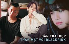 """Profile 2 trai đẹp công khai thân mật với BLACKPINK: Hết con trai Chủ tịch Naver đến dancer cực phẩm suýt """"cướp"""" nụ hôn của Lisa"""