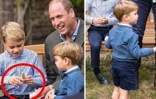 """Hoàng tử George lần đầu tiên bị """"đòi quà"""" công khai trong khi cộng đồng mạng nhận ra chi tiết thú vị về bé út Louis"""