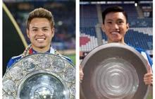 """Văn Hậu được chọn vào top hậu vệ hay nhất châu Á, fan Thái liền chế ảnh phản bác cực gắt: """"Anh ta đã có đĩa bạc như Theerathon chưa?"""""""
