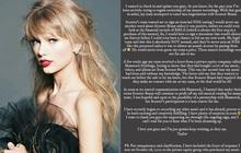 """Taylor Swift lên tiếng việc Scooter Braun bí mật bán bản master của mình cho bên thứ ba nhưng vẫn """"ăn"""" toàn bộ lợi nhuận"""