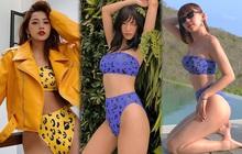 """Pha đụng bikini cực gắt của 3 mỹ nhân: Tóc Tiên, Salim khoe body """"bốc"""", Chi Pu kín nhất nhưng mix đồ thật cool"""