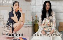 """""""Hoa hậu Hàn Quốc"""" Jisoo (BLACKPINK) gây sốt với bộ ảnh tạp chí mới, choáng hơn khi kéo đến ảnh hậu trường"""