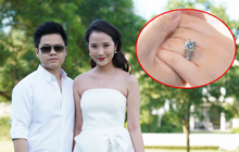 Không còn bí mật nữa, Phan Thành đã tung ảnh nhẫn cưới lên Facebook: Hột kim cương bự ghê!