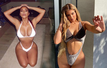 """Cuộc chiến body """"bí thở"""" căng đét của Kim và Kylie Jenner: Cô em át luôn cô chị nhờ cắt xẻ hiểm hóc, phơi bày đến 80% body!"""