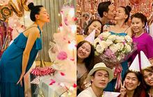 Tiệc sinh nhật sang chảnh của Hà Hồ bên hội bạn: Mẹ bỉm cực xinh hậu sinh nở, nụ hôn Kim Lý dành cho vợ chiếm spotlight!