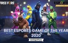 """Free Fire được vinh danh ở giải thưởng """"Game Esports di động của năm"""" tại Esports Awards 2020"""
