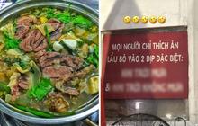 Quán lẩu bò Sài Gòn treo biển thông báo khiến khách nào vô cũng phải tặc lưỡi: Vừa đúng vừa dễ thương quá trời!