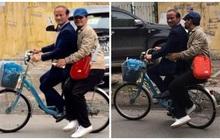 Xuân Bắc khoe ảnh được bạn thân chở đi học bằng xe đạp, dân tình trầm trồ: Trời ơi, cả một thời tuổi thơ ùa về!