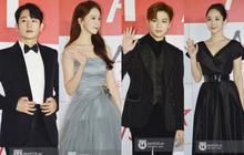 """Năm ngoái quân đoàn sao Hàn khuynh đảo thảm đỏ AAA ở Việt Nam: Yoona - Park Min Young đẹp xỉu, Ji Chang Wook, Red Velvet và dàn idol """"bùng nổ"""""""