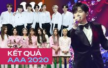 Kết quả AAA 2020: Giải Daesang bị trao vô tội vạ, BTS không còn trắng tay nhưng TWICE, NCT lại gây tranh cãi