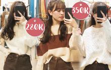 Mua áo len ở khu Chùa Láng: Chỉ từ 280K đã sắm được áo vừa xinh vừa ấm