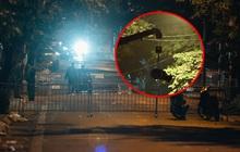 Ảnh: Cận cảnh khu vực phong tỏa nơi phát hiện và di dời thành công quả bom 340kg ở Hà Nội, người dân đã sơ tán trong đêm