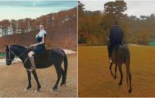 Chồng giàu của Huyền Baby lại chiếm spotlight trên MXH, thần thái cưỡi ngựa khiến vợ liên tưởng đến cả Lee Min Ho