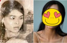 Bà nội sở hữu nhan sắc thuộc hàng visual hồi đó, dân tình tò mò cháu gái có ké được miếng đẹp nào không?