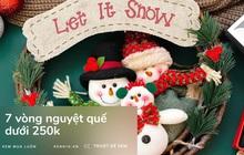Sắm vòng nguyệt quế trang trí Giáng sinh cực long lanh giá chỉ từ 60k
