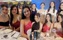 Cập nhật đám cưới Tường San: Quân đoàn Hoa hậu - Á hậu tụ họp, Tiểu Vy sexy miễn bàn, khoảnh khắc cha dẫn cô dâu lên lễ đường gây xúc động