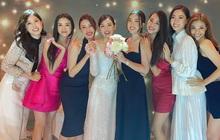 Cập nhật đám cưới Tường San: Quân đoàn các nàng Hậu tụ họp, Tiểu Vy bất ngờ bắt được hoa cưới nhưng sao lại dúi vào tay Đỗ Mỹ Linh thế này?