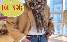 """5 mẫu khăn len từ 39k bán chạy nhất kèm cả review """"xịn"""" cho bạn"""