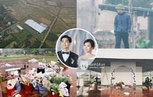 Hé lộ không gian cưới khủng rộng 500m2 ở sân bóng của Công Phượng ở Nghệ An: Chú rể đội mũ cối đi kiểm tra, rạp khủng được trang trí đầy lãng mạn!