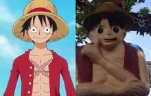 Netizen khóc thét với bộ tượng One Piece lỗi toàn tập gây bão MXH: Sợ nhất là Luffy không cổ dị vô cùng!