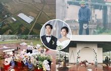 Hé lộ không gian cưới rộng 500m2 ở sân bóng của Công Phượng ở Nghệ An: Chú rể đội mũ cối đi kiểm tra, rạp khủng được trang trí đầy lãng mạn!