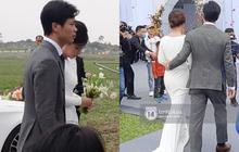 Trực tiếp đám cưới Công Phượng tại Nghệ An: Tân lang tân nương bước vào lễ đường, spotlight đổ dồn vào bàn tay của Công Phượng đặt ở eo cô dâu