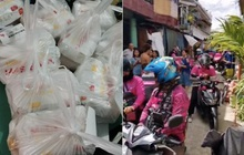 """Mạng lag, bé gái 7 tuổi chốt đơn """"nhầm nhọt"""", 42 anh shipper áo hồng với """"full combo"""" gà rán, khoai tây... náo loạn cả khu phố"""