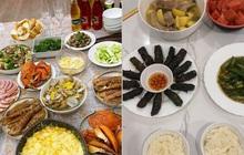 """Nhật Lê - """"tình cũ"""" Quang Hải khoe mâm cơm tự nấu sang xịn như nhà hàng, so với cơm Huỳnh Anh nấu quả là khác nhau trời vực!"""