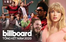 """BXH Billboard cuối năm: Taylor Swift thống trị mảng nữ, BTS xếp trên Ariana Grande và Lady Gaga, The Weeknd """"gỡ gạc"""" nỗi buồn Grammy"""