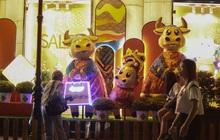 Gia đình trâu ngộ nghĩnh xuống phố Sài Gòn đón Tết Tân Sửu 2021 khiến nhiều thích thú