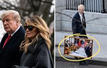 """Ít ngày nữa phải chính thức rời Nhà Trắng, bà Melania Trump lặng lẽ sắp xếp đồ vì """"sợ làm chồng nổi giận"""", hành lý đang được chuyển ra ngoài"""
