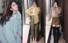 """Đu trend theo Park Min Young, Jisoo (BLACKPINK) diện áo khoác bông, cô nàng ghé qua Zara và tìm được 6 mẫu áo """"ưng bụng"""" nhất"""